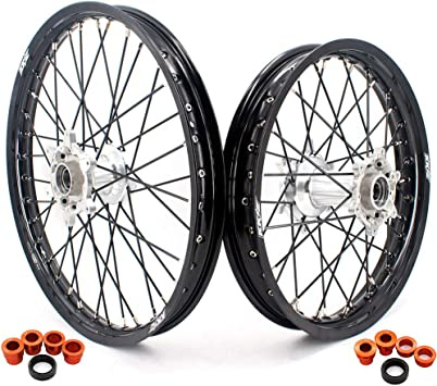 ProTrax Complete Rear Wheel Rim 18X 2.15 Orange Hub KTM 125EXC 200SX 200MXC