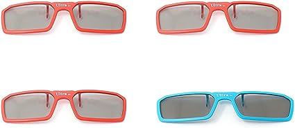 4 pares de 3 1 rojo azul nuevo Clip estándar 3D pasivo Universal ...