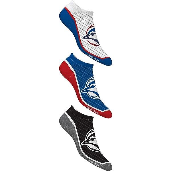 Shoe Size 7-12 Gertex MLB Toronto Blue Jays Mens Ankle Sock 3 Pack