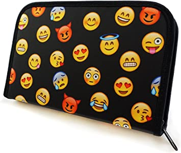 Plumier Estuche Caja de lápices para la escuela para niños y niñas Emoji Black [062]: Amazon.es: Juguetes y juegos