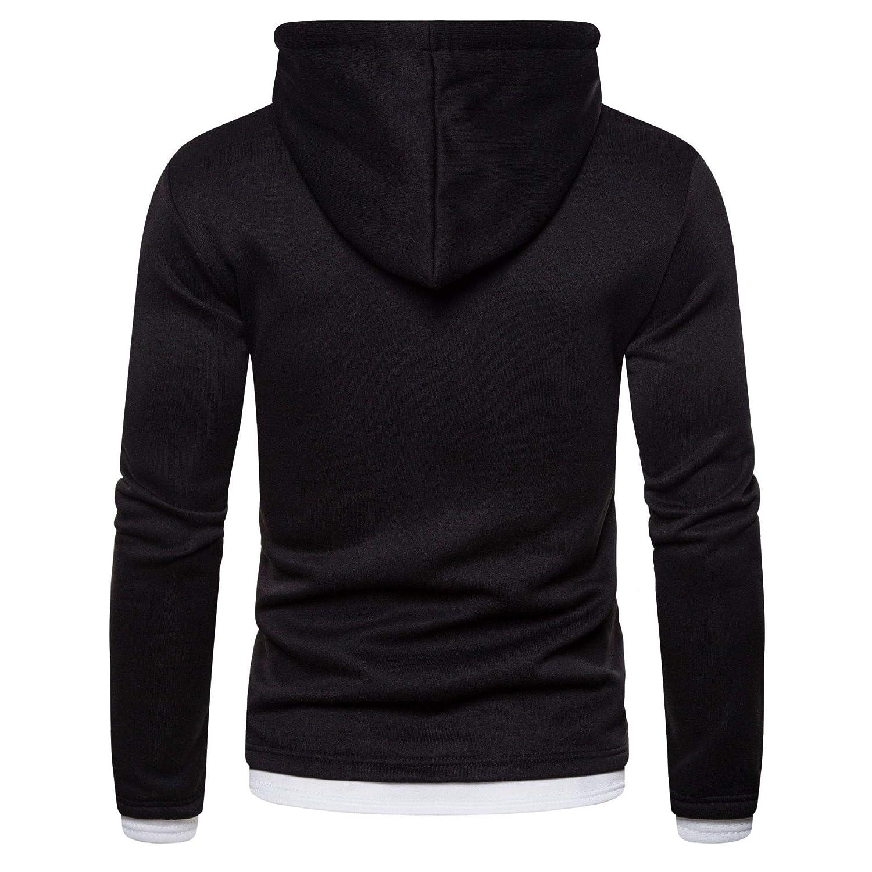 Manteau d'hiver pour Homme - Polaire épaisse - Col Montant - Décontracté - Solide - Vêtement d'extérieur Chaud Noir