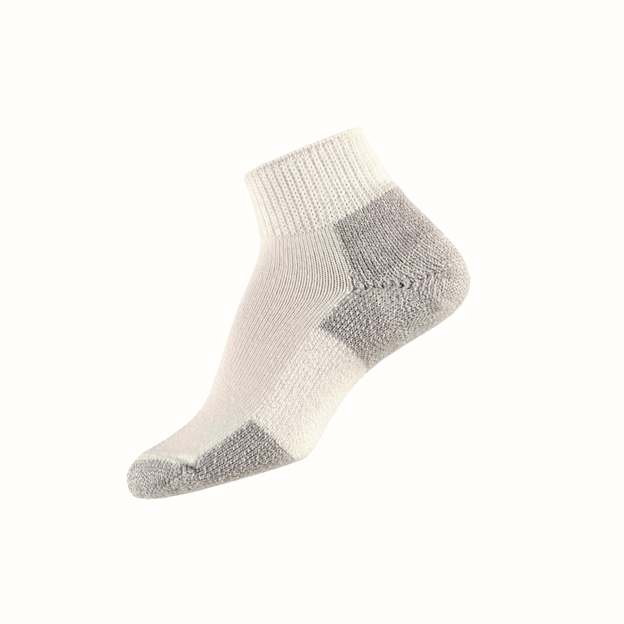 Thorlos Unisex JMX Running Thick Padded Ankle Sock, White, Medium by thorlos