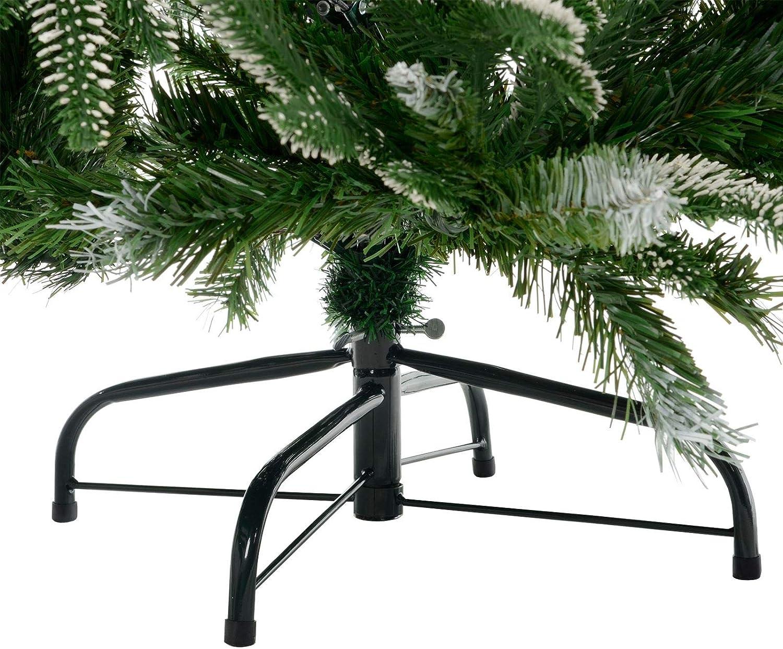 Polyester Branches de Feuillage Taille Unique Mr Crimbo Sapin de No/ël Artificiel Vert 210 cm D/écoration dint/érieur en /épic/éa Faux Aiguilles Neutre