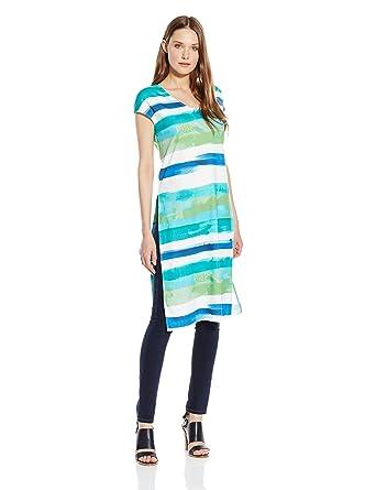 08537fdd920 Joan Vass Women s High Slit Tabard Top at Amazon Women s Clothing store