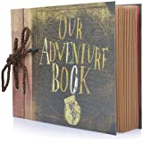 Photo Album Scrapbook, Our Adventure Book, DIY Handmade Album Scrapbook Movie Up Travel Scrapbook for Anniversary…