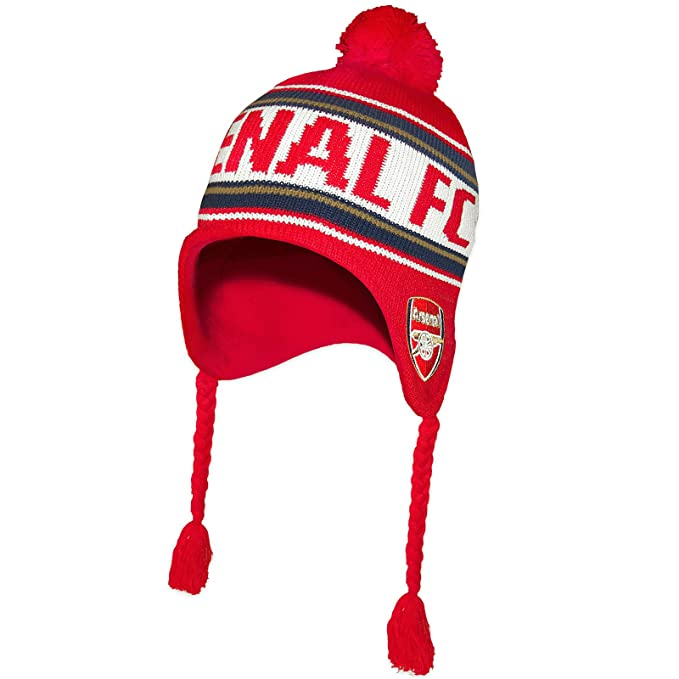 999d1def2c0 Arsenal FC Official Football Gift Adults Knitted Bronx Beanie Heidi Hat  Red  Amazon.co.uk  Clothing