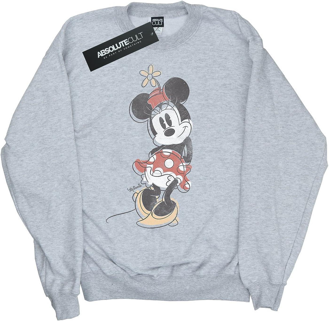 Disney Girls Minnie Mouse Offset Sweatshirt