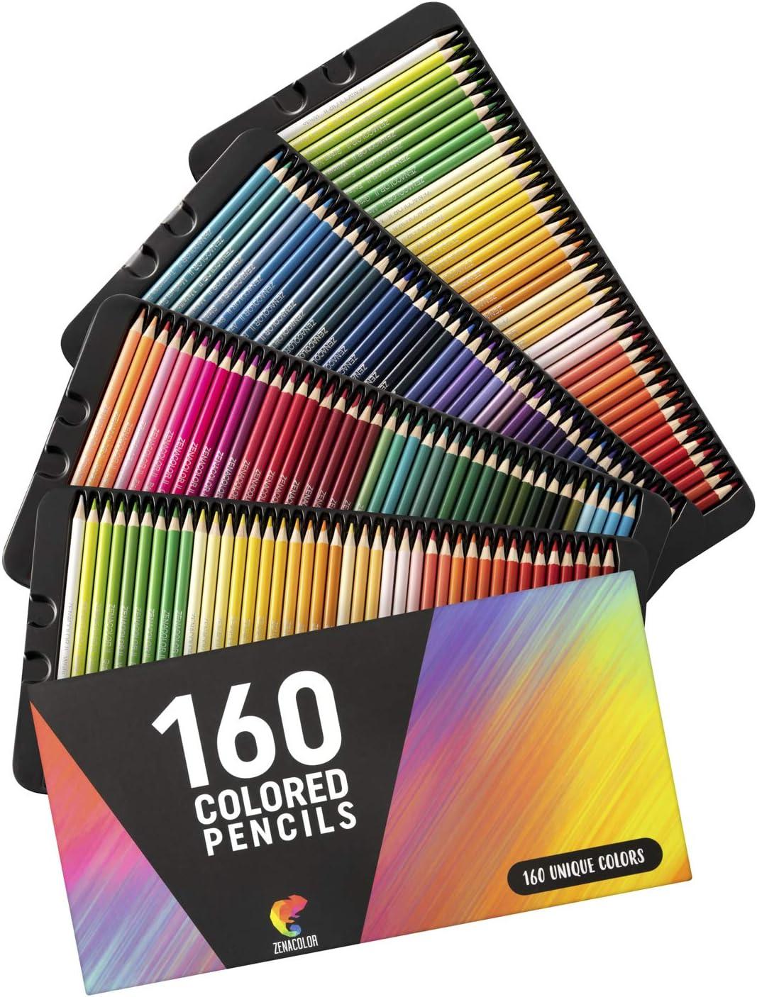160 Crayons De Couleur Numerotes Zenacolor Rangement Facile