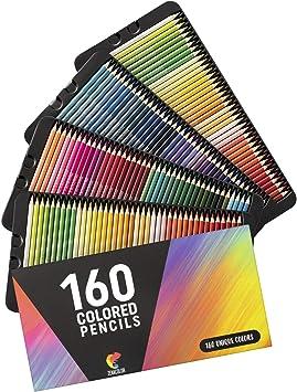 Amazon Com 160 Colored Pencils Set By Zenacolor Colored