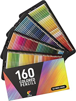 Amazon Com 160 Colored Pencils Set By Zenacolor Colored