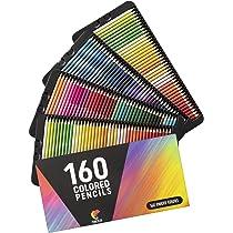160 Lapices de Colores (Numerados) Zenacolor - Almacenamiento Fácil - Estuche Lapices dibujo profesional para Adultos y Niños - Ideal para Colorear, Mandalas Colorear Adultos, Material Escolar: Amazon.es: Oficina y papelería