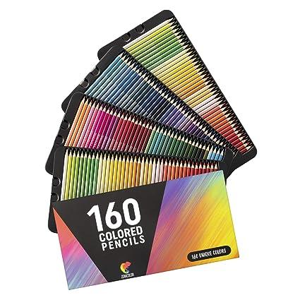 ⭐160 Lápices de Colores (Numerados) - Almacenamiento Fácil - Estuche de Lapices de Colores Profesional Adultos Niños - Ideales para Colorear Adulto, ...