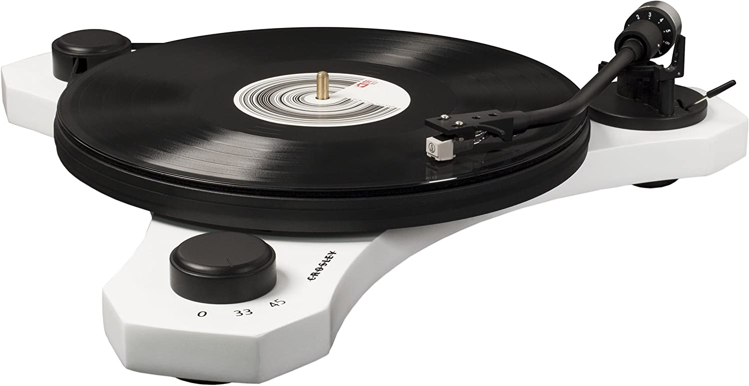 Crosley C3 2-Speed Belt-Drive Turntable with Audio-grade MDF Plinth and RCA Output, White