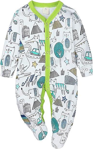 Nwada Ropa Bebe Chandal Chico Conjunto para Niña Recien Nacido Pijama Nino Vestido Otoño Invierno 0-18 Meses