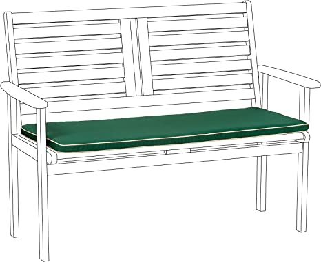 gardenista garden chair seat pad indoor outdoor seating cushion pillow ecru piping water resistant lightweight comfy 1 piece 106cm x