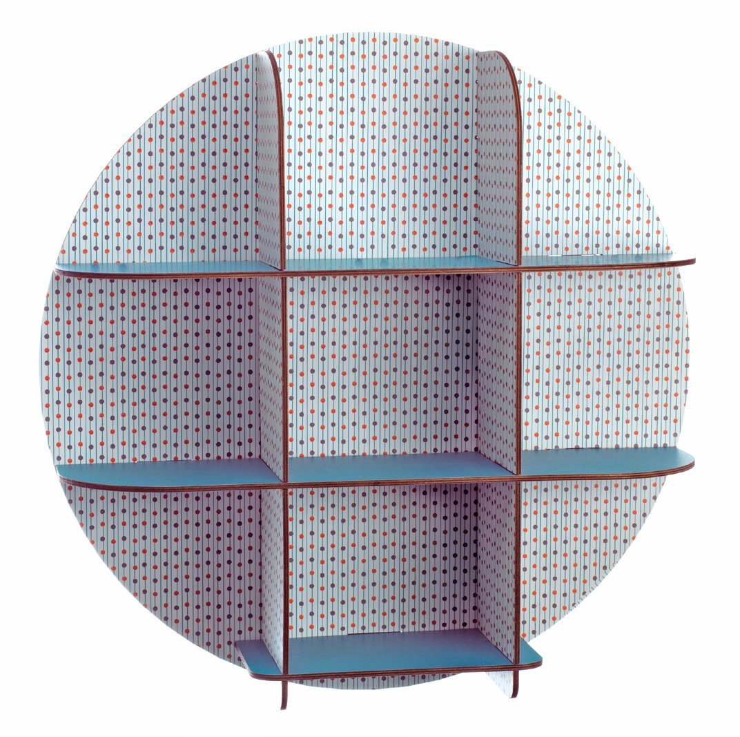 Djeco Wooden Shelves, Dots for Storage and Wall Decoration