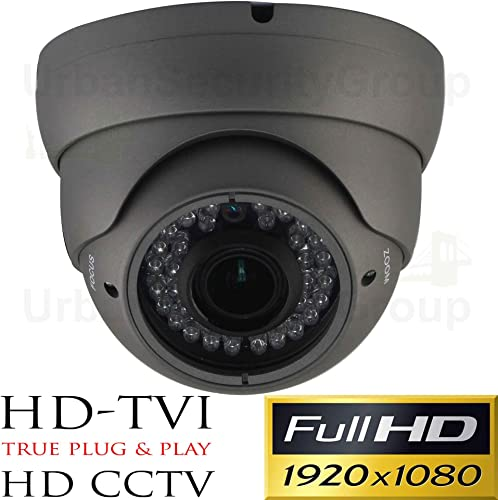 Urban Security Group Panasonic Chipset 2MP 1080P 30FPS Dome Security Camera 6-in-1 BNC CCTV Format HD-SDI, EX-SDI, HD-TVI, HD-CVI, AHD Analog 2.8-12mm Vari-Focal Lens, IR LEDs, Business Grade