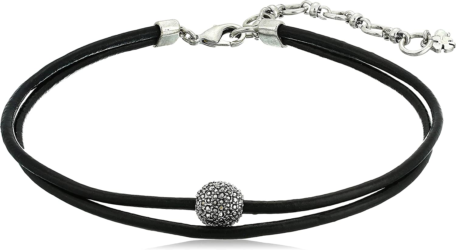 CUTE STRETCHY WIDE DIAMOND LAYER  ADJUSTABLE CHOKER NECKLACE BLACK LABEL