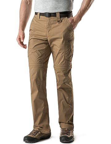 16c9e6bb768a4 CQR Men's Convertible Pants Zipp Off Stretch Durable UPF 50+ Quick Dry  Cargo Shorts Trousers