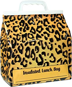 Jay Bags Lunch Reusable Insulated Food Bag, Leopard