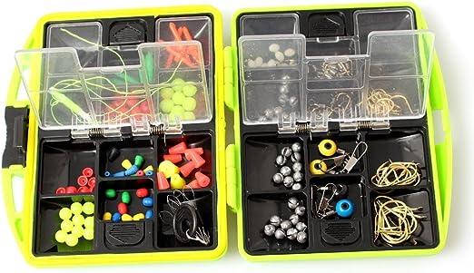 Marca nueva pesca caja pesca Acesorios caja de aparejos de pesca de carpas y para anzuelos pesca accesorios (incluidos todos los accesorios de pesca): Amazon.es: Hogar
