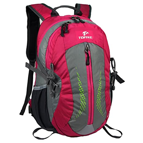 a55b823cb0cf Tofine Heavy Duty Hidden Pocket Outdoor Water Proof Travel Backpack Hot  Pink 25L