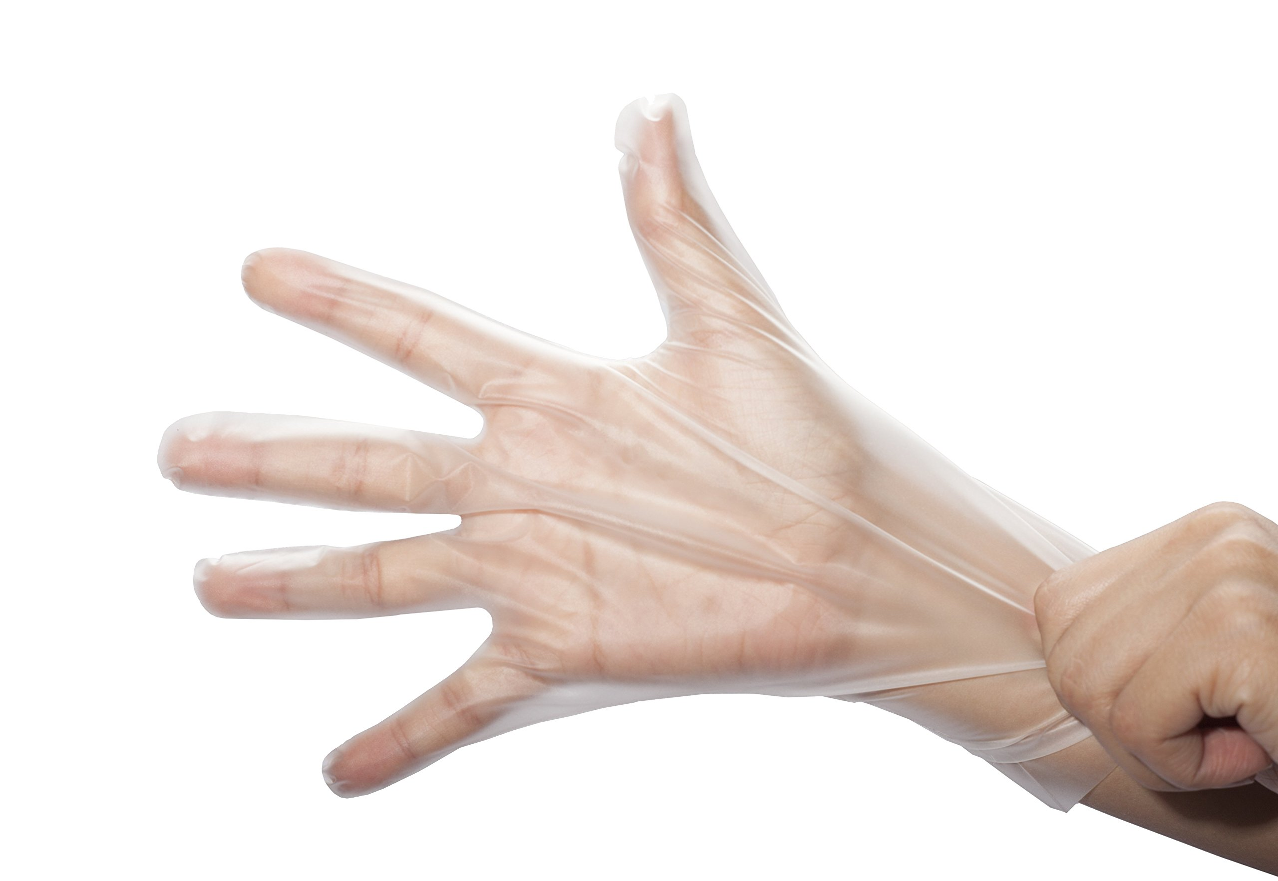 Stretch Poly Clear Gloves-Powder & Latex Free, Food Preparation Safe, Snug Fitting, Kitchen Cooking, 3.2 Mil, Food Service Gloves 71LGc5nyVQL