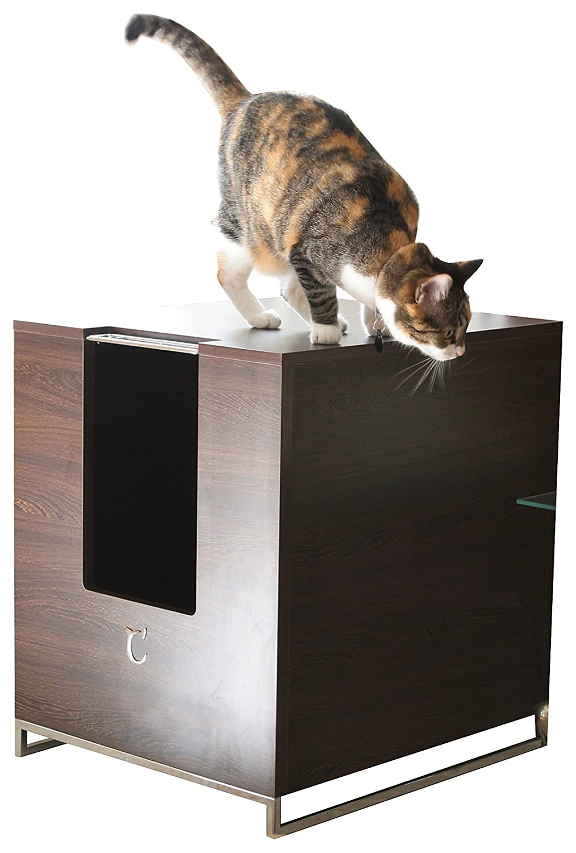 amazoncom  modern cat designs litter box hider  brown  cat  - amazoncom  modern cat designs litter box hider  brown  cat houses andcondos  pet supplies
