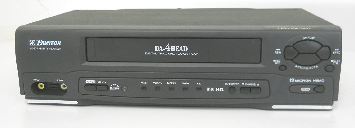 Emerson EWV401A Video Cassette Recorder Player Da-4 head Digital Tracking Quick Play VCR