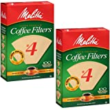 Melitta Cone Coffee Filters Natural Brown #4 200 count, 2 Pack