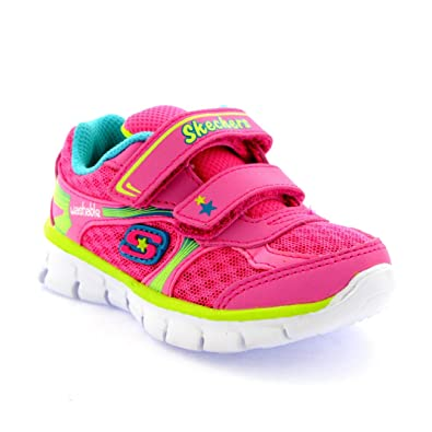 d694d529956f Skechers Infant Girls Synergy Lil Softy Lightweight Memory Foam Trainers -  Neon Pink Multi