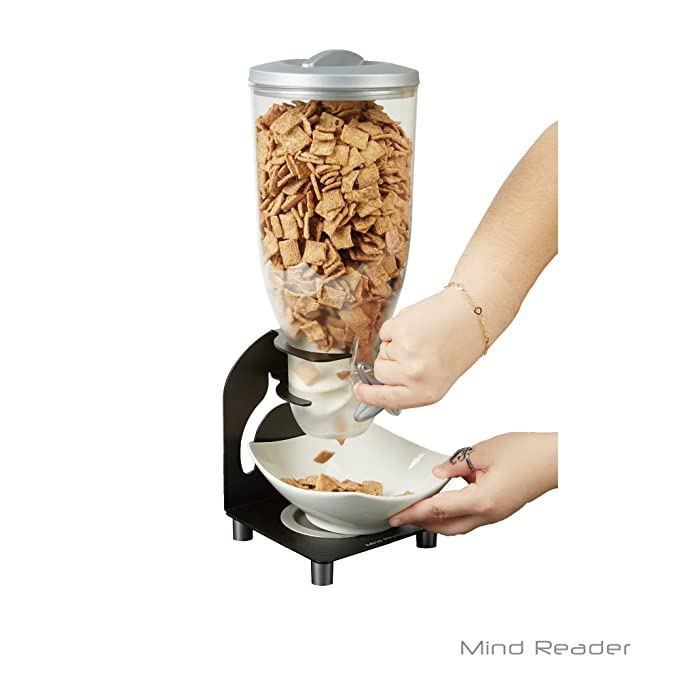 Mind Reader kell200-blk Metal dispensador de cereales, color negro: Amazon.es: Hogar