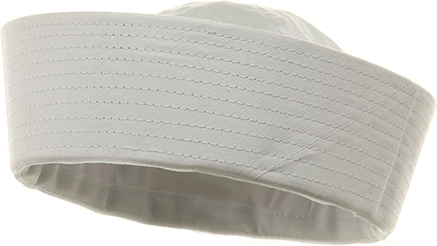 White US Navy USN Type Uniform Dixie Cup Sailor Hat with Official Pin