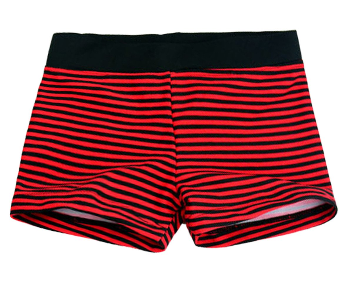 Aivtalk Boys Swim Boardshorts Comfortable Bathing Suit Swimming Trunks 6-7T Stripe Red