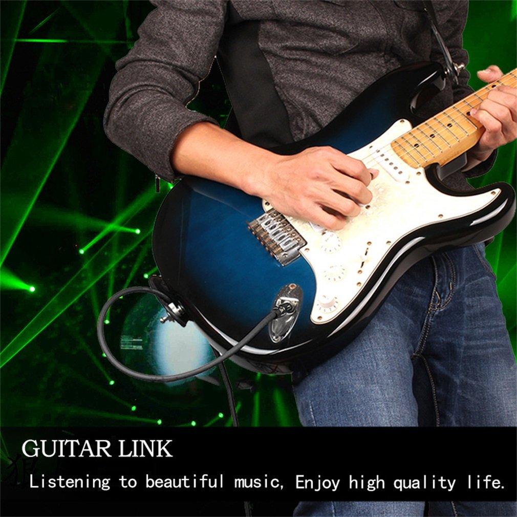Cable para amplificador de guitarra, 3 m, color negro, 6,35 mm, 1/4: Amazon.es: Instrumentos musicales