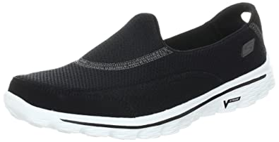 Skechers Damen Go Walk 2 Linear Sneakers  36 EUSchwarz (Bbk)