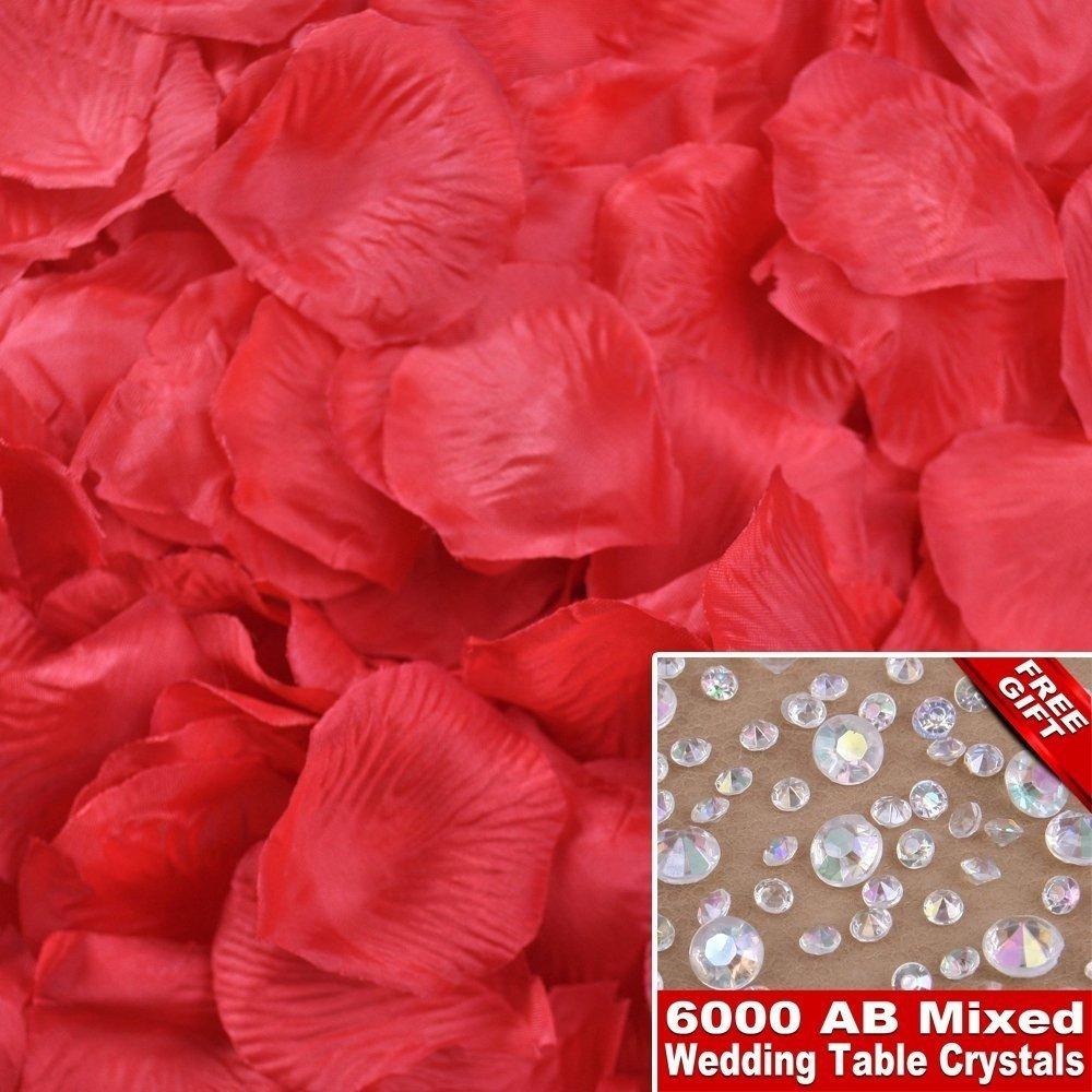 Lot de 1000 pétales de rose décoratifs Idéal pour une fête de mariage NTWNMJHGDU780