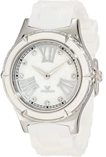 Viceroy Womens 432104-03 Mother-of-Pearl Crystal Rubber Watch
