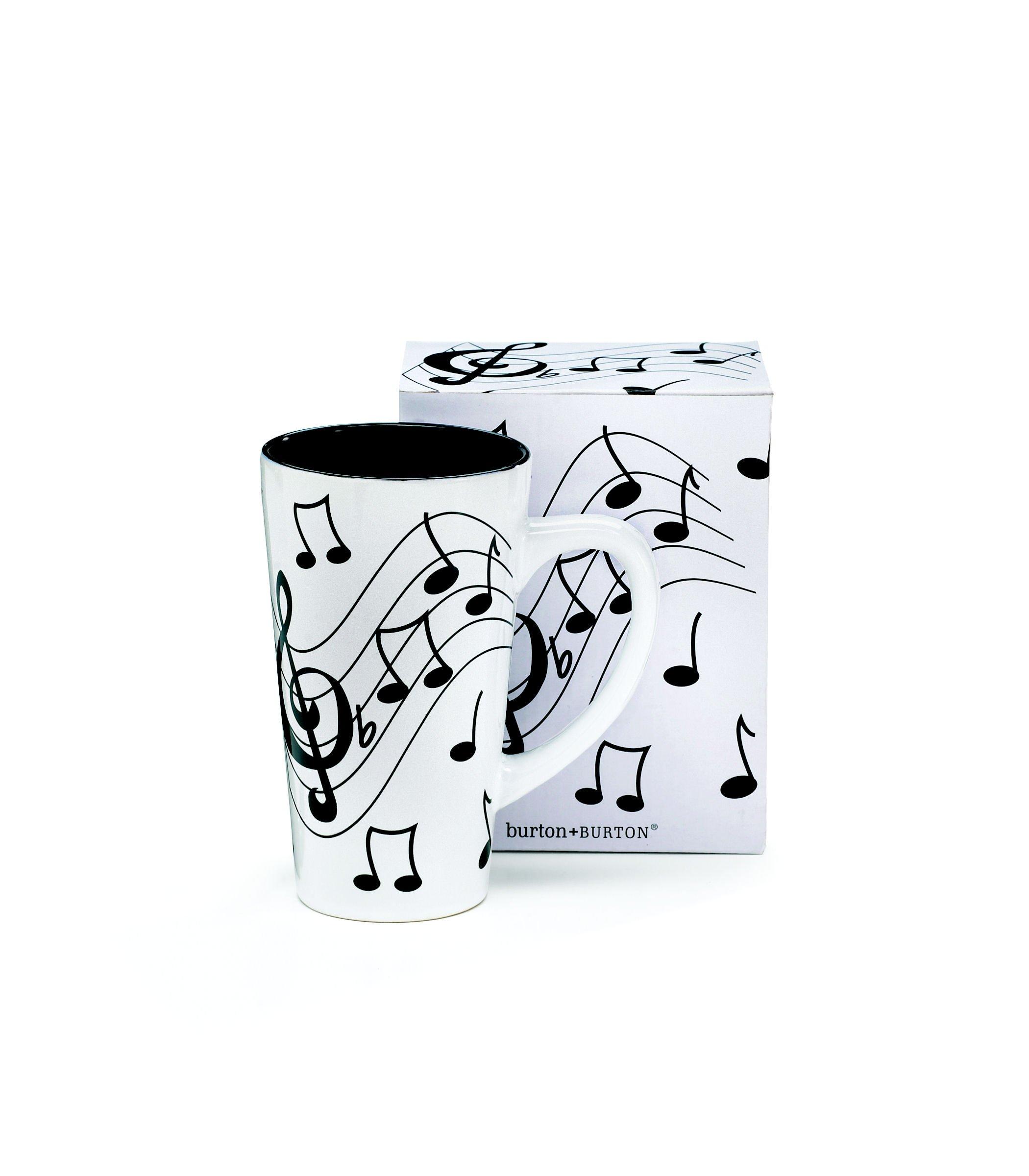 Musical Note Jazz Ceramic Coffee/Tea Travel Mug Treble Clef - 16 Oz by burton+BURTON