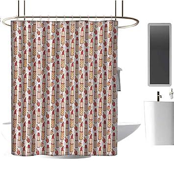 "Glamorous Afro Make-up Model Waterproof Fabric Bathroom Shower Curtain 72x72/"""