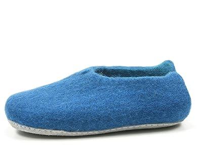 Rohde 7980 Nepal Damen Hausschuhe Pantoffeln Slipper Filz , Schuhgröße:41;Farbe:Blau
