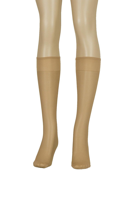 Lissele Full Support Women's Plus Size Knee High 3 Pack