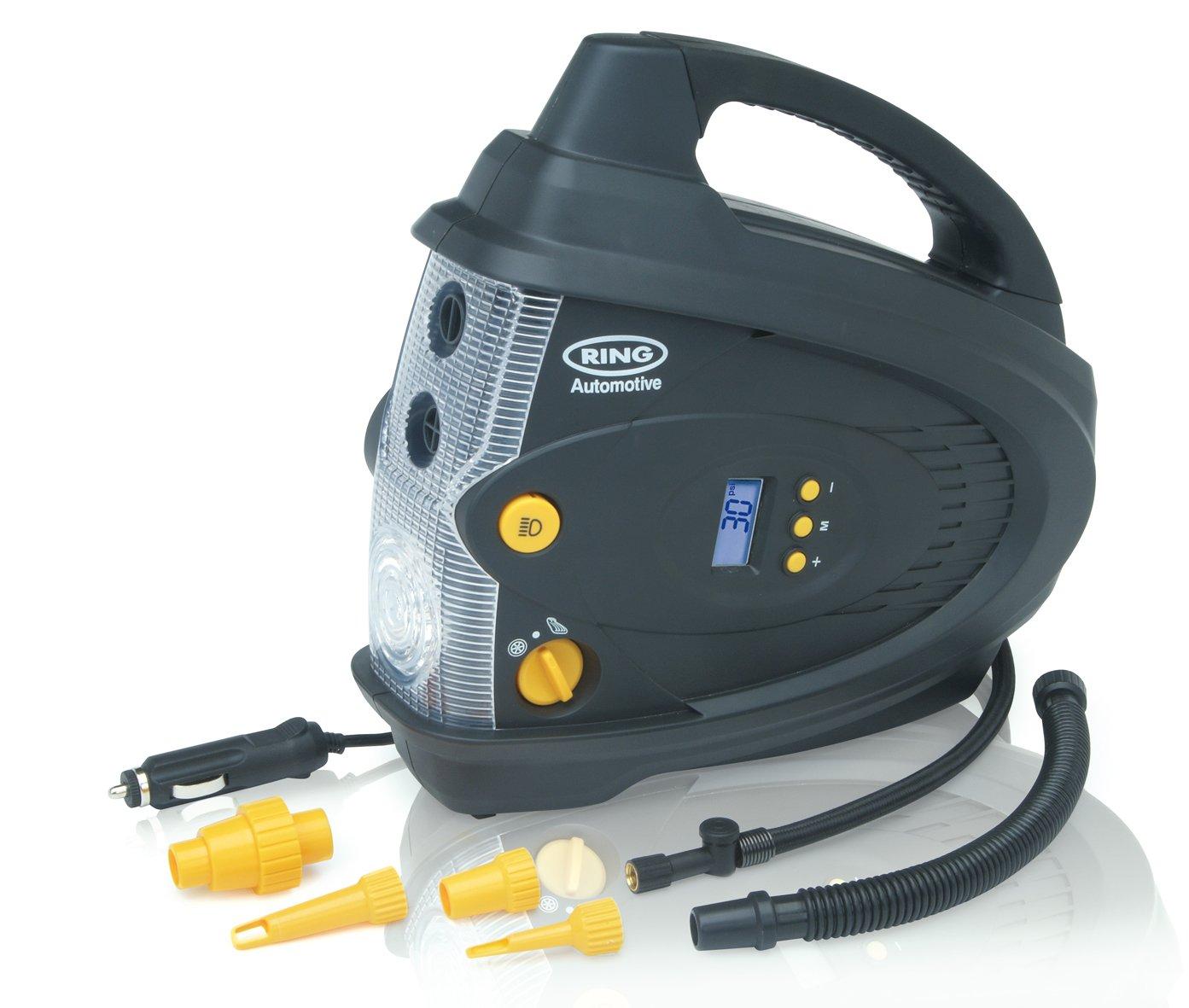 ring rac640 12v digital tyre inflator air compressor with. Black Bedroom Furniture Sets. Home Design Ideas