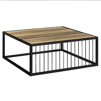 En Casa Table Basse Moderne Plateau Mdf Pieds De Table En épingle à Cheveux Bois 75cm X 75cm X 30cms