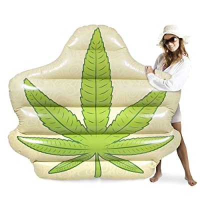 Sol Coastal Jumbo Devil's Lettuce Pool Float | Giant Inflatable Party Raft | 5 Feet Wide PVC Floatie Inner Tube for Adult Summer Fun, Beach Vacation, Pool Parties, and Backyard Relaxation: Toys & Games