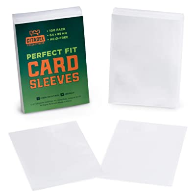 100 Pack Card Sleeves | Double Sleeve with Clear, Durable Plastic Trading Card Protectors for Draft, Collecting, and Shuffling | 100 Inner Sleeves Compatible with All Popular Card Games: Toys & Games [5Bkhe1002465]