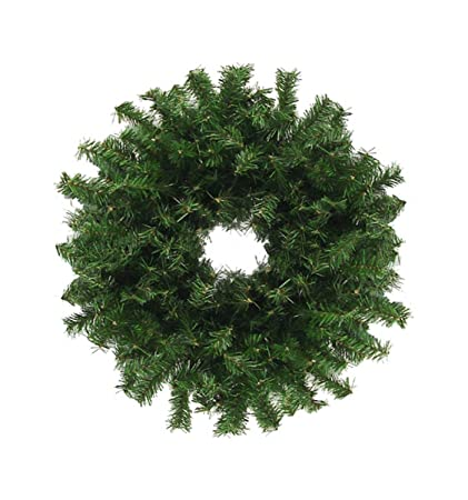 darice 30 traditional green canadian pine artificial christmas wreath unlit