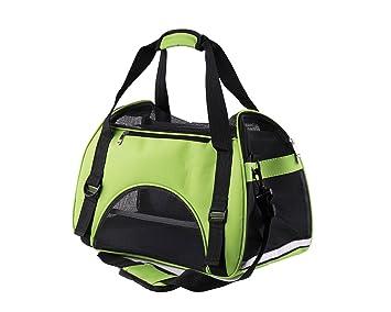 Bolsa de Transporte para Mascotas, Cómodo Bolsode Hombro Portador de Viaje para Perros y Gatos, bolsa plegable para viaje de tren y avión.