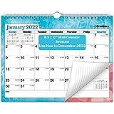 CRANBURY Small Wall Calendar 2022 - (Seasons) Use 8.5x11 Calendar from July 2021 to December 2022, as Desk Calendar 2021-2022