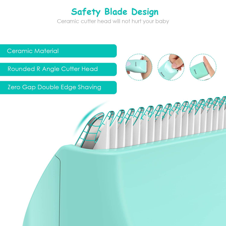 Tondeuse à Cheveux, Tondeuse Electrique Sans Fil Professionnelle pour Bébé et Enfants, Silencieux, Imperméable et rechargeable